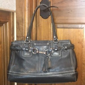 Black Leather Coach purse.